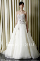 Wholesale new fashion long design lace up ribbon beaded vestidos organza Formal Elegant party gown wedding Dresses bridal gown