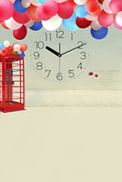 Wholesale 200CM CM backgrounds Time clocks booth balloon photography backdrops photo LK1570