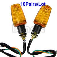 Wholesale 10pairs New Universal x Motorcycle Turn Signals Indicators Turning Lamp Light TK0167