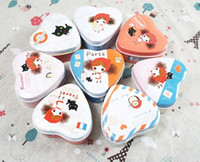 Wholesale New Vintage Heart shaped DIY Multifunction tea tins Metal home kitchen storage clean up box mini jars