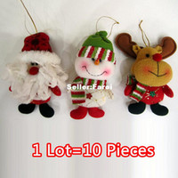 Wholesale 7 quot Christmas Hanging Ornaments Decoration Baby s Favourite Pieces Santa Claus Snowman Deer SHB082