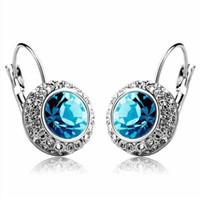 Wholesale CE25 Fashion Shiny Full Austrian rhinestone Crystal stud Earring Y607