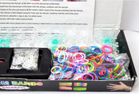 Big Kids Multicolor Plastic Puzzle gift toy Handmade Rainbow Loom Bracelet DIY rubber Silicone wrist bands Preparation Ring 600 Bands+ S-Clips Twistz DIY Best Xmas Gif