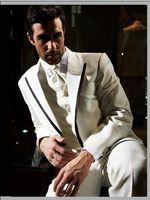 Wool dhg - Custom made NEW Groom Tuxedos Wedding Groomsman Suit Groomsman Bridegroom Suits Jacket Pants Tie Vest Boy Suit fashion DHG