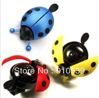 Steel 87*45*51mm ISO 9001 Fashion Bike Mountain Bicycle Handlebar Mini Ladybug Ring Bell Horn Sound Metal 3color lot Free shipping