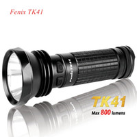 Wholesale 1pc Fenix TK41 Cree XM L LED LM Mode Flashlight Torch Free Cree LED flashlight waterproof torch