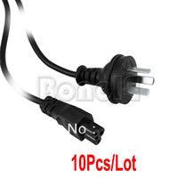 Wholesale 10pcs New Black CU Prong AC Power Cord Pin Adapter Cable for Laptop