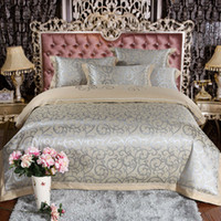 Wholesale Home textile luxury bed set Tencel jacquard bedding set queen king size bedding duvet cover quilt cover bed sheet set bedclothes