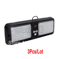 Wholesale 3pcs Super Bright Car Truck Emergency Led strobe light Visor light Visor Strobe Lamp light White Amber