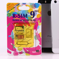 Wholesale Newest RSIM9 AUTO Unlock ALL iPhone5 S C S R SIM pro ios IOS7 R Sim pro Docomo AU Sprint Verizon T MOBILE