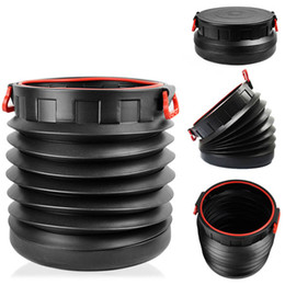 Wholesale NEW Folding Collapsible Magic Round Car Container Barrel Trash Bin Storage Bucket Pail