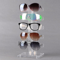 Jewelry Stand counter display - 5 Pairs of Glasses Frame Counter Display Show Clear Stand Cradle Holder Plastic