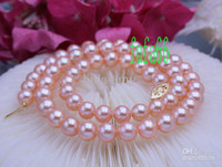 Wholesale PERFECT AAA MM PINK AKOYA PEARL necklace K