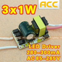 Wholesale 3X1w x1w x3w x3w x1w x1w x1w x1w led driver W W W lamp driver V input for E27 GU10 E14 LED lamp high quality