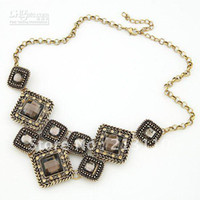 Wholesale New arrival Hot costume jewelry unique design handmade statement necklace enviroment free shpp