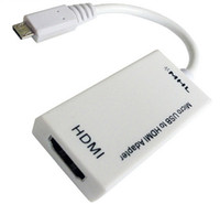Wholesale New Micro USB to HDMI TV MHL To HDMI Cable Adapter AV Cable For Tablets Note Galaxy Nexus HTC