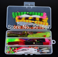 Cheap Hot Sell! 834pcs set plastic fishing lures set with box Soft Lure sleeve Lure or Soft bait Jig Big Hook jig head line Free Ship