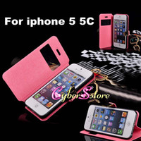 Wholesale For iphone C Hot Selling D Metal Buckle Front Screen PU Flip Wallet Leather Case Cover With Stand Holder For iphone C
