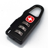 Wholesale SWISSGEAR Mini bag lock Metal alloy locks luggage zip locks Multi function Travel combination lock