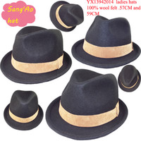 Wholesale black top fashion hat wool felt sailor Hat wear in wedding church beach party Ascot and Ladys day hat top man hat and boy