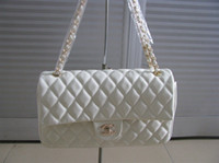 Wholesale Beige Quilted Chain Handbag Shoulder Bag tote purse