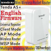 Tenda ap power supply - English Firmware Tenda A5 Mini Router Pocket WiFi Wireless N150 AP Router Client Universal Repeater WISP Mbps USB Port for Power Supply