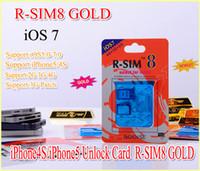 Unlocking Card gevey 5.0 - Original Gevey R SIM GOLD RSIM8 R SIM8 For Unlock iphone S Dual Sim Card iphone S iOS iOS7 GSM CDMA WCDMA