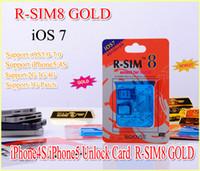 Unlocking Card gevey 5.0 - New Gevey gold R SIM R SIM8 Dual sim unlock for iOS iOS7 iphone iphone s SUPPORT G G RSIM SIM8