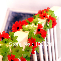 Wholesale Simulation Sunflower rattan Korea artificial flowers artificial flowers rose vine green leaves rattan decoration of rattan