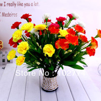 Wholesale New high simulation artificial flower carnation carnation rustic decor fresh and warm and beautiful new homes