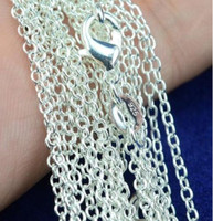 Wholesale Lady Fashion Jewelry Chain Sterling Silver Rolo Chain Vintage Necklace Solid Silver Chains Fit Pendant Hot Sale MM Inch