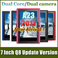 Wholesale Cheapest NEW Q88 PRO Android Dual Core Wifi Dual Camera Allwinner A23 Capacitive Screen GHz inch MB G tablet pc MOQ