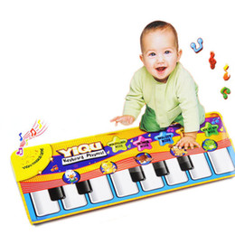 Wholesale New Arrival Touch Play Keyboard Musical Music Singing Gym Carpet Mat Best Kids Baby Gift amp