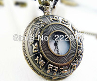 Wholesale Vintage fashion carved animal pocket watch