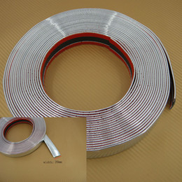 Wholesale 3 meters MM Car Decoration MOULDING Trim Strip Silver