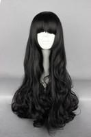Cheap Free shipping cheap 70CM Long curly RWBY Blake Belladonna Black Cosplay Wig