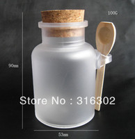 Wholesale g bath salt ABS Bottle ml powder plastic bottle bath salt bottle with wooden spoon