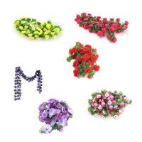 Wholesale 2013 New string artificial fake flowers vine ivy garland wall home floral decor HG