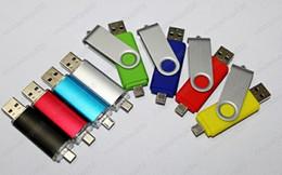 50pcs lot 2018 by DHL Smart Cell phone pendrives 64GB USB 2.0 Flash Drive Thumbdrie pen drive U disk external storage micro usb memory stick