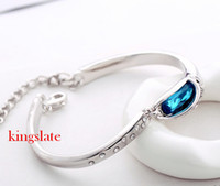 Wholesale New design Deluxe pretty K gold plated K fashion charm Austrian Crystal Swarovski Elements Bracelet AB2
