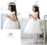 Wholesale Girls Princess Lace Dress Flower Dance Skirt Dress Wedding Flower Girls Dresses Factory Supply Fedex