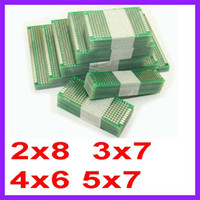 Wholesale 20pcs x7 x6 x7 x8 cm double Side Copper prototype pcb Universal Board for Arduino