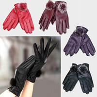 Wholesale 2013 Newest Fashion Women Winter Soft Leather Mitten Gloves Warm Driving Gift Freeshipping amp