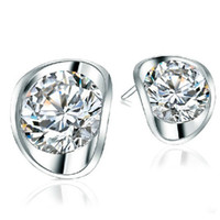 Women's ba crystals - crystal earrings Diamond earrinngs with Swarovksi element silver white crystals BA