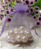 Wholesale 500pcs Lavender Color cm cm quot x6 quot Sheer Organza bag Wedding Favor Gift Bag