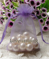 Wholesale Please Contact US Lavender Color cm cm quot x6 quot Sheer Organza bag Wedding Favor Gift Bag