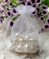 Wholesale 500pcs White Color cm cm quot x6 quot Sheer Organza bag Wedding Favor Gift Bag