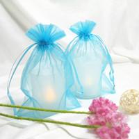 aqua gift bags - Aqua Blue Color cm cm quot x6 quot Sheer Organza bag Wedding Favor Gift Bag Party Favor Gift Wrapping Bag
