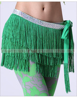 Cheap The new tribal belly dance waist chain hip scarf tassel wind superdense three silver belt women wear dancing costumes hip towel