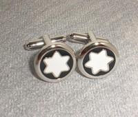 Wholesale Black and white round Cufflinks Men s cuff links
